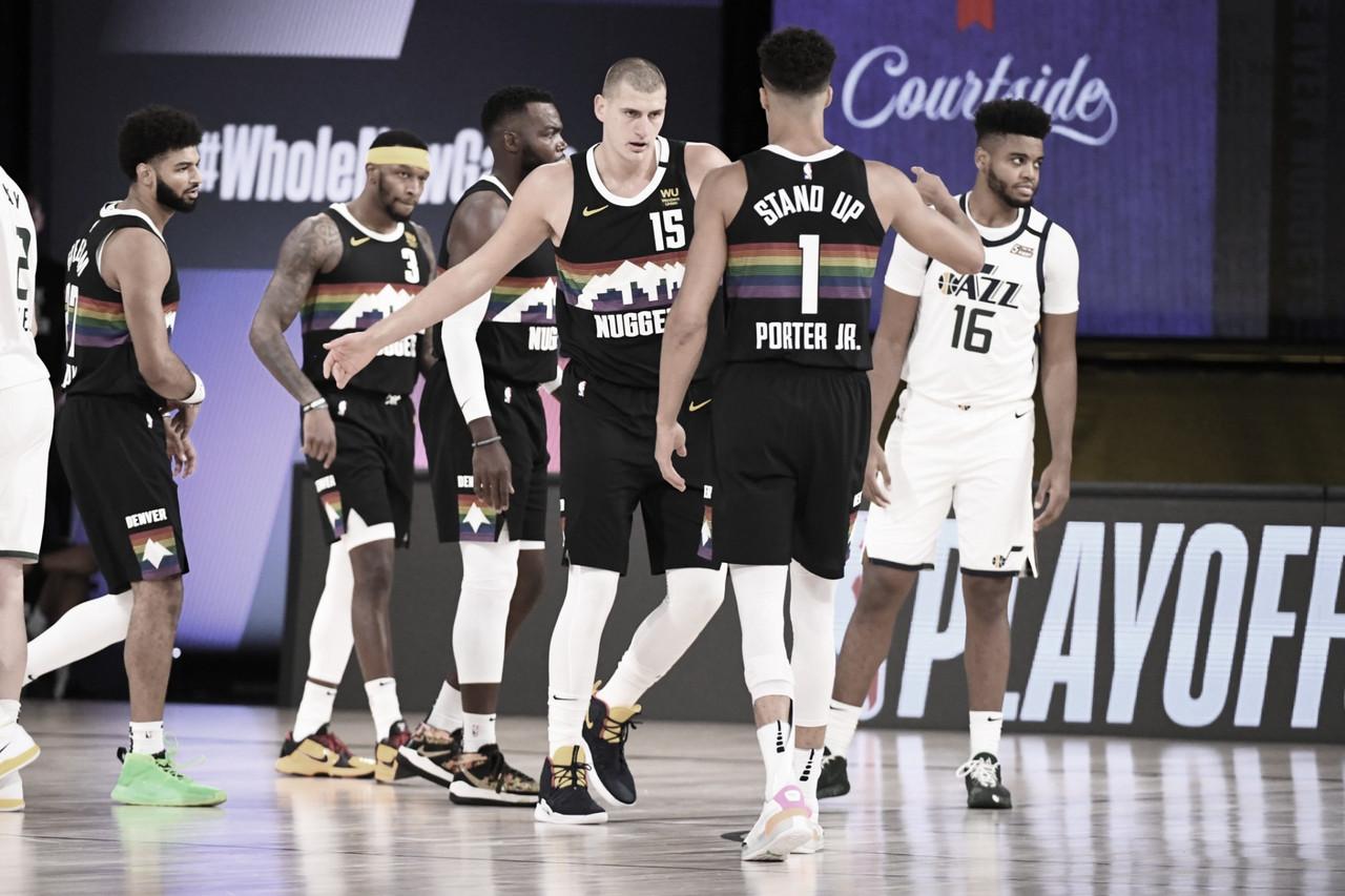 Em confronto espetacular entre Murray e Mitchell, Nuggets vencem Jazz na abertura dos playoffs