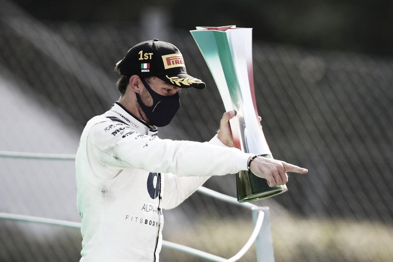 Corrida maluca: Pierre Gasly prevalece no caos em Monza e garante primeira vitória na carreira