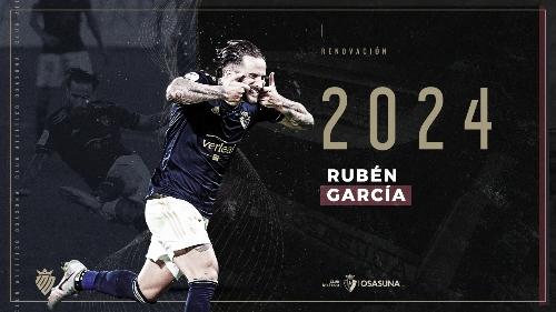 Imagen utilizada para hacer oficial la renovación de Rubén García. Foto: Osasuna