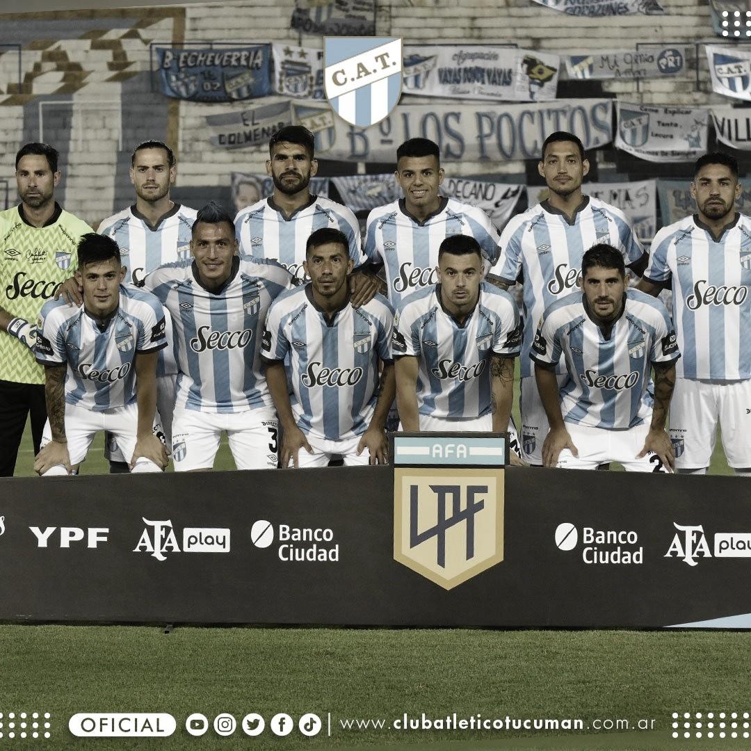 El once inicial de Atlético Tucumán que estuvo en campo contra Unión.de Santa Fé. FOTO: PRENSA ATLÉTICO TUCUMÁN.