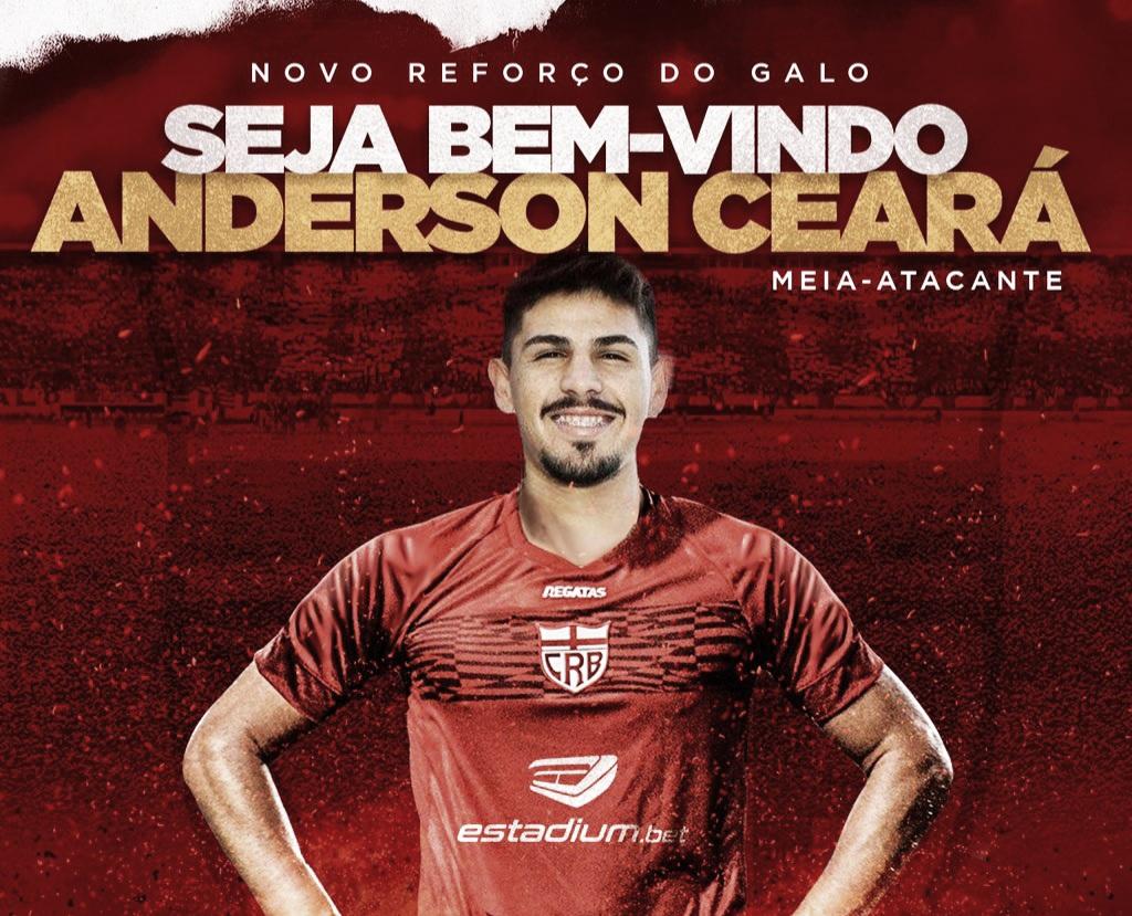 Meia Anderson Ceará é anunciado no CRB