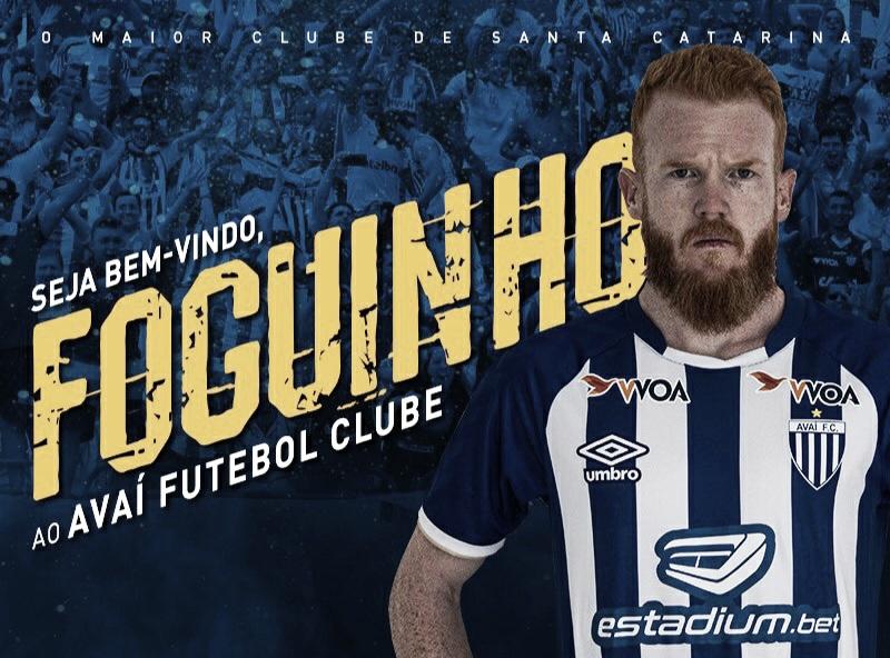 Avaí anuncia a contratação do volante Foguinho, ex-Criciúma
