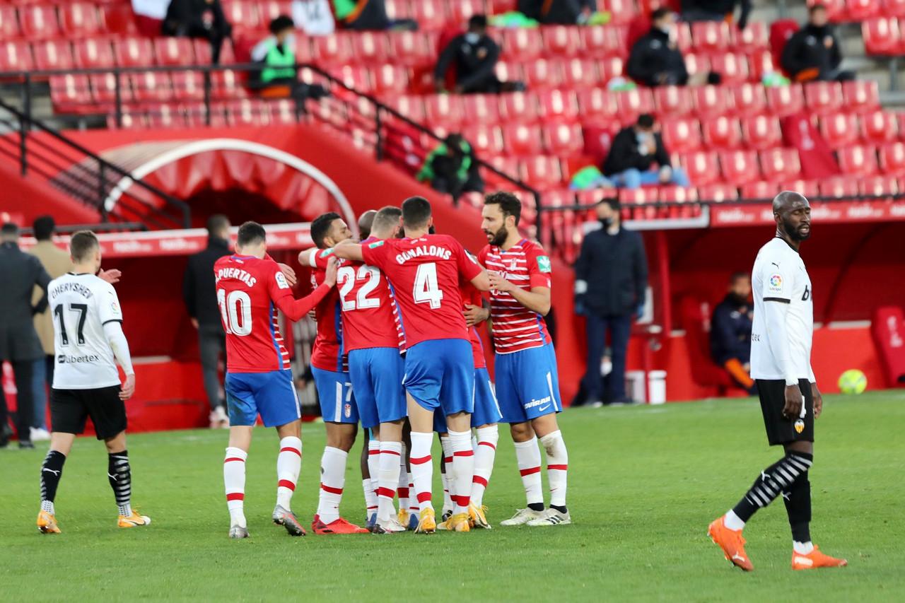 Granada CF- Valencia CF: puntuaciones del Granada, jornada 16 de LaLiga