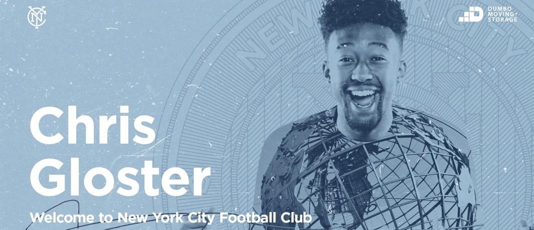 Chris Gloster firma por NYCFC