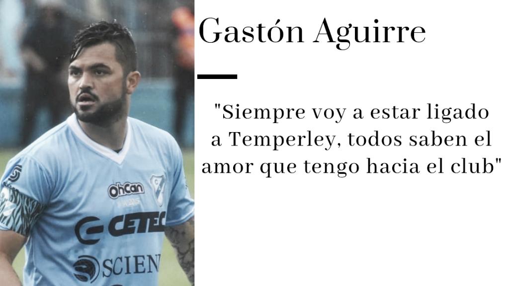 """Entrevista. Gastón Aguirre: """"Temperley es una vidriera donde los jugadores vienen, se muestran y se van, nos ha pasado siempre"""""""