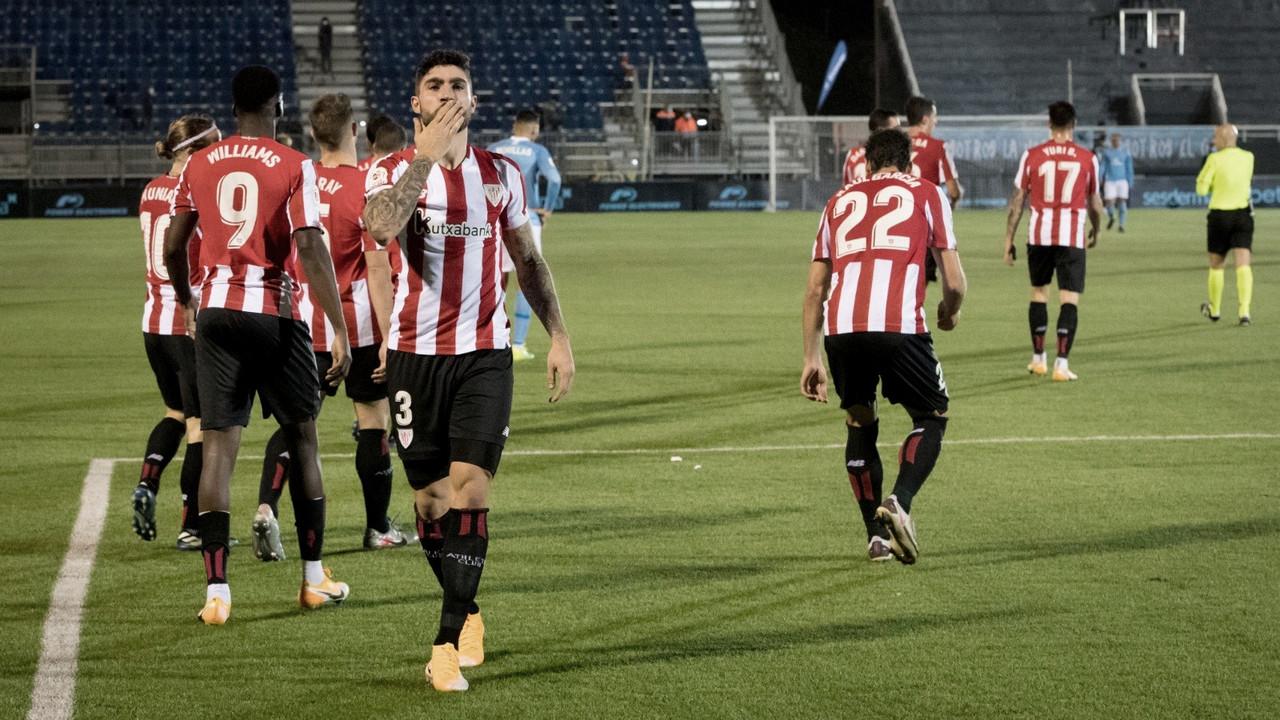 Nuñez celebrando el tanto de la victoria Fuente: Athletic Club