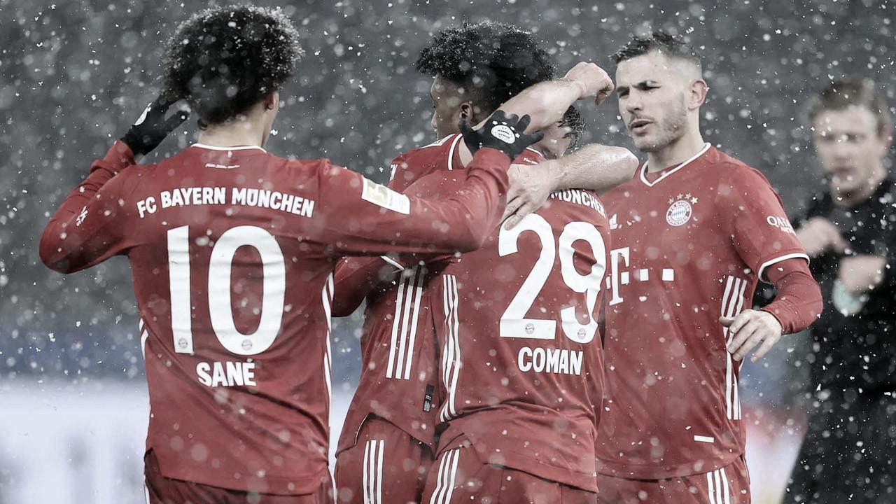 Con todo y la nieve en contra, el Bayern Múnich consiguió derrotar al Hertha Berlín