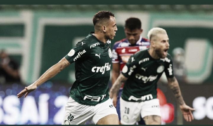 Arrasador, Palmeiras dá show e goleia Fortaleza