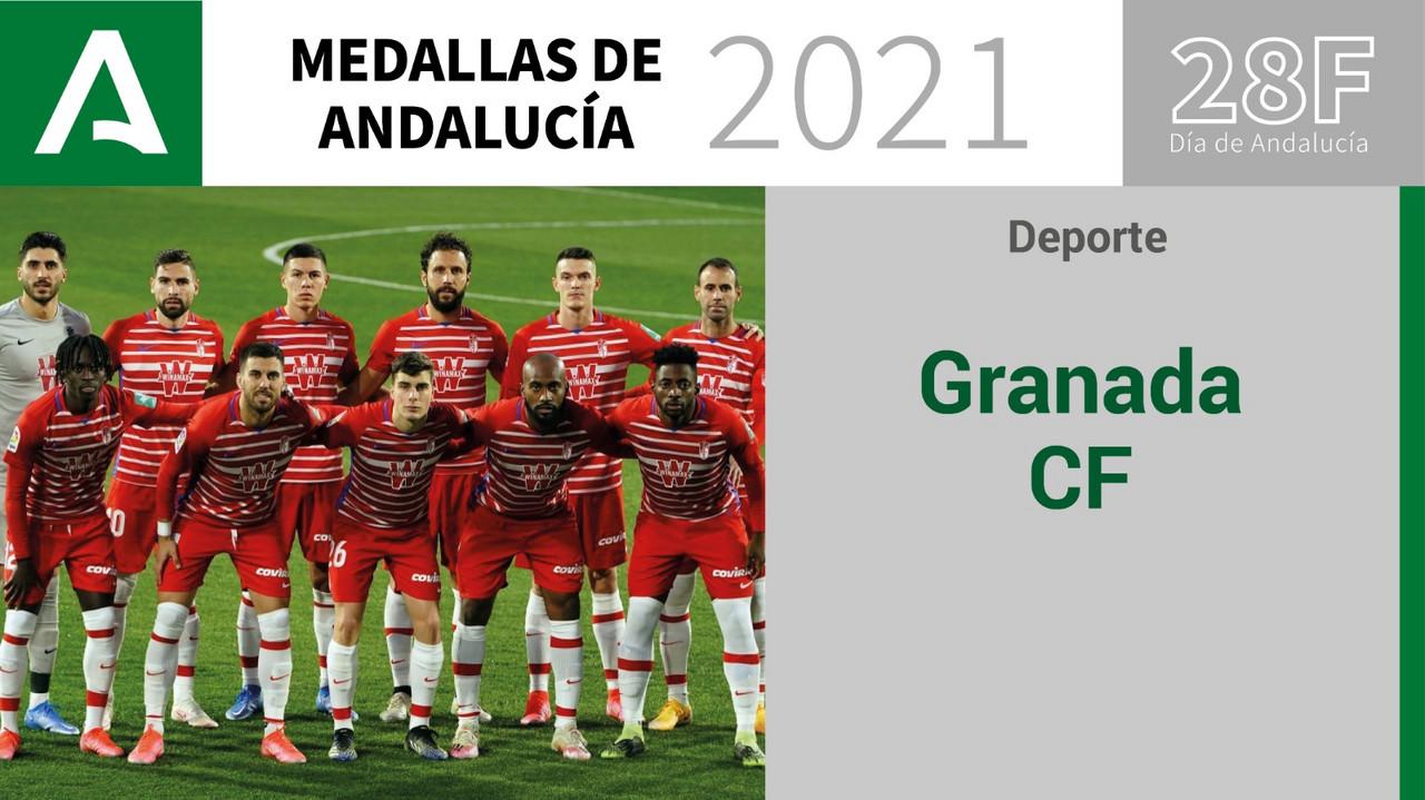 El Granada CF, Medalla de Andalucía del Deporte