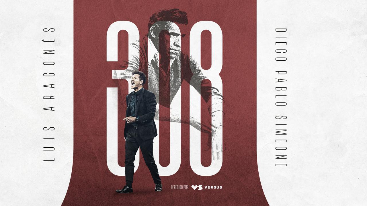 Nuevo hito cholista: Simeone alcanzó los 308 triunfos con el Atlético de Madrid