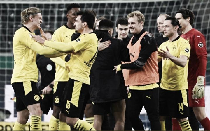 Sancho marca, Borussia Dortmund derrota M'gladbach e chega à semifinal da Copa da Alemanha