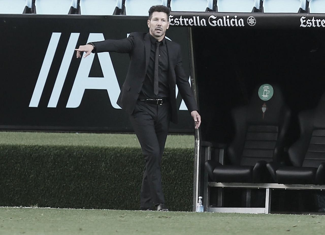 """Simeone: """"Nos quedamos con la sensación de haber hecho un gran partido"""""""
