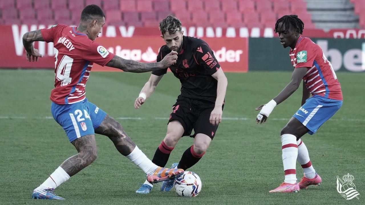 Granada - Real Sociedad: puntuaciones de la Real Sociedad en la jornada 27, de LaLiga Santander