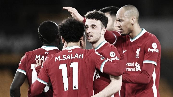 Diogo Jota marca e Liverpool volta a vencer na Premier League