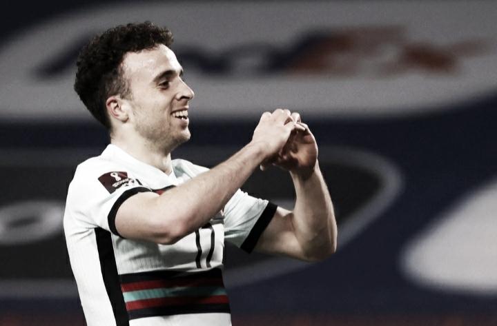 Diogo Jota marca duas vezes, mas Portugal cede empate para Sérvia