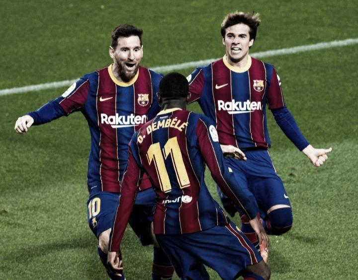 Dembelé decide na reta final, Barcelona vence Valladolid e cola no líder Atlético