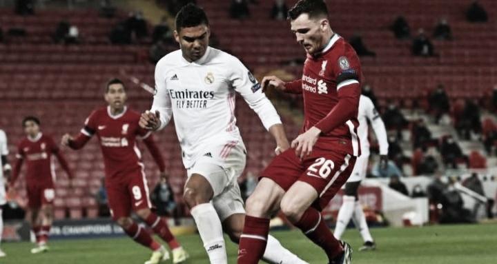 Real Madrid segura empate diante do Liverpool e se classifica às semifinais da Champions