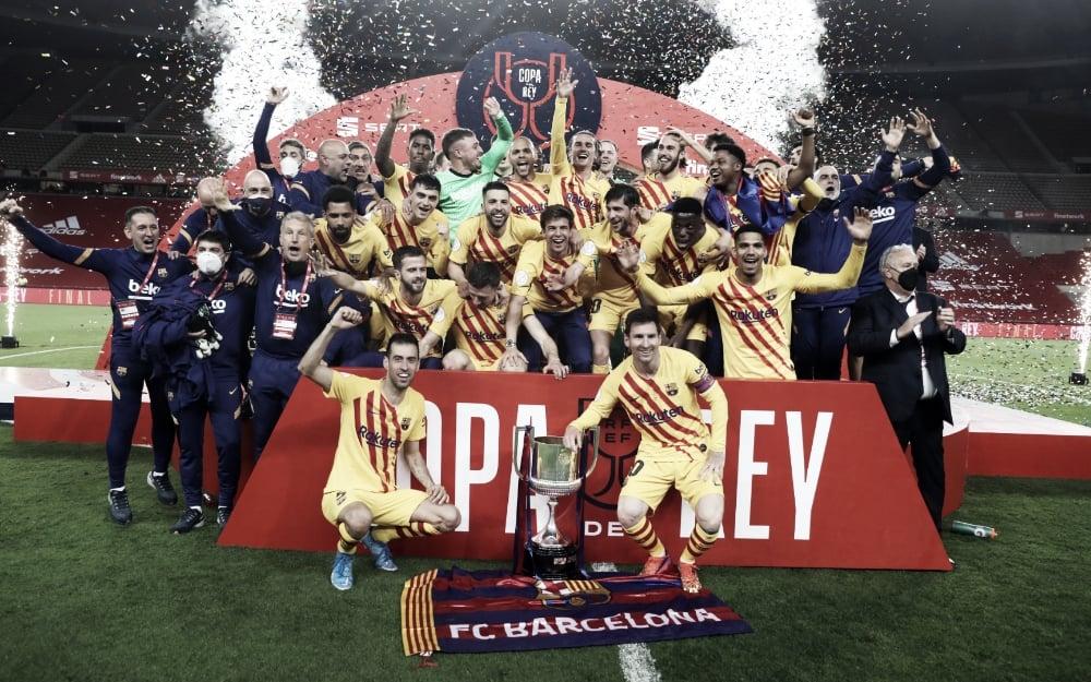 Barcelona não toma conhecimento do Athletic Bilbao, goleia e é campeão da Copa do Rei
