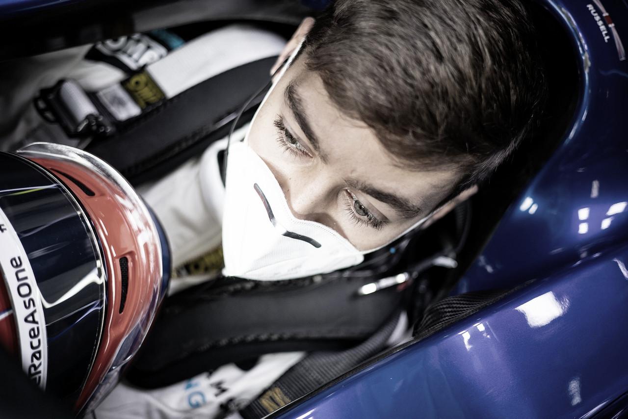 """Russell espera ir bem no qualifying em Portugal: """"Q2 é o mínimo que espero"""""""