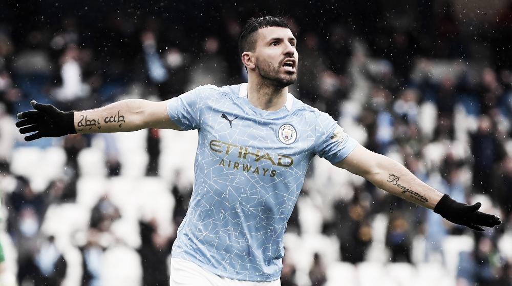 Despedida de Aguero e entrega da taça: City goleia Everton na última rodada da Premier League