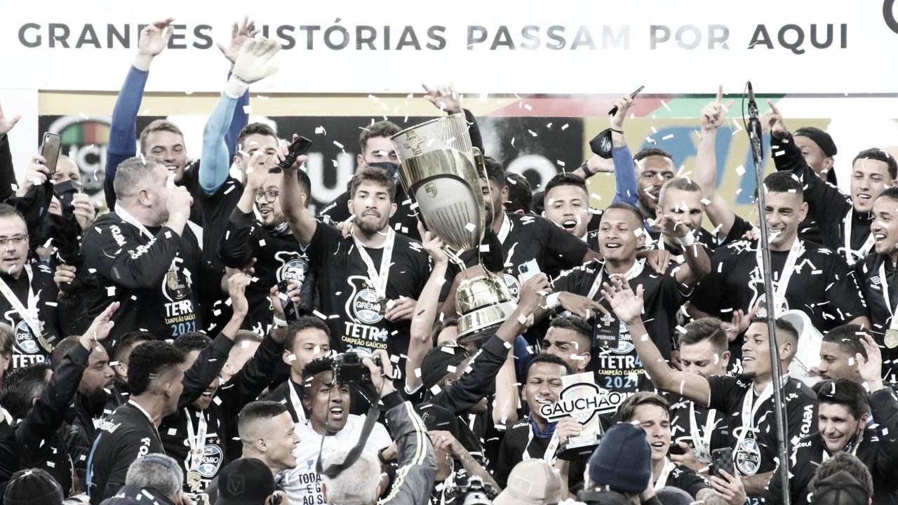 Campeão! Grêmio empata com Inter e conquista tetra do Campeonato Gaúcho