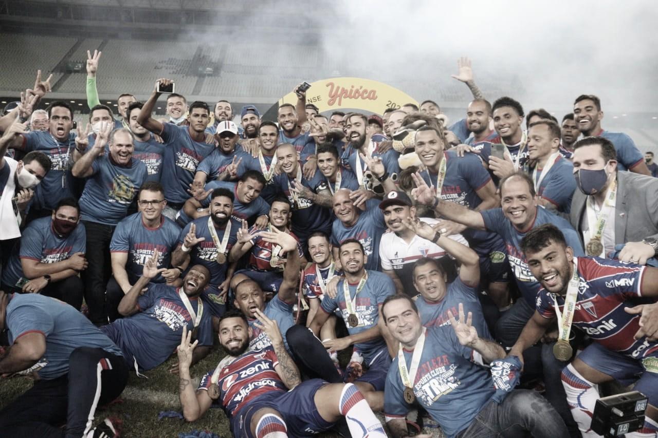 44 vezes: Fortaleza é campeão cearense e encosta no rival Ceará
