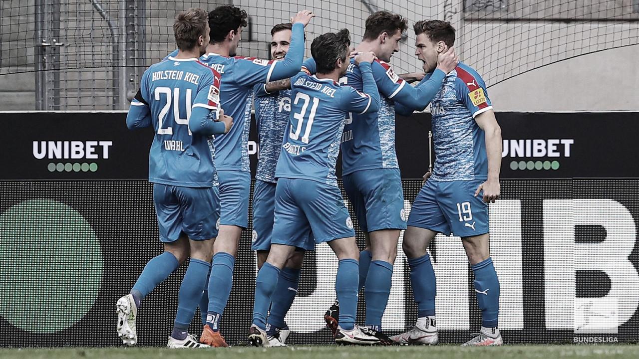Holstein Kiel bate Colônia na ida do Relegation e fica perto de chegar à Bundesliga pela primeira vez