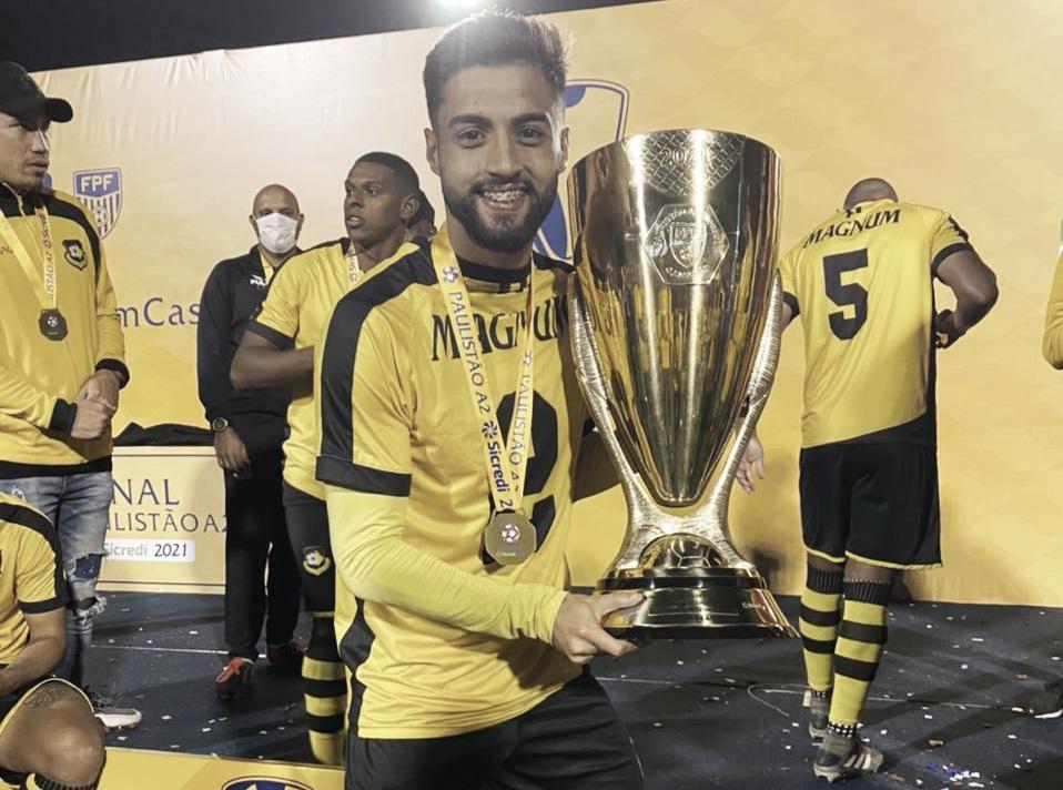 Com assistência do Gionotti, Ferron marca e São Bernardo FC é campeão o Paulistão A-2