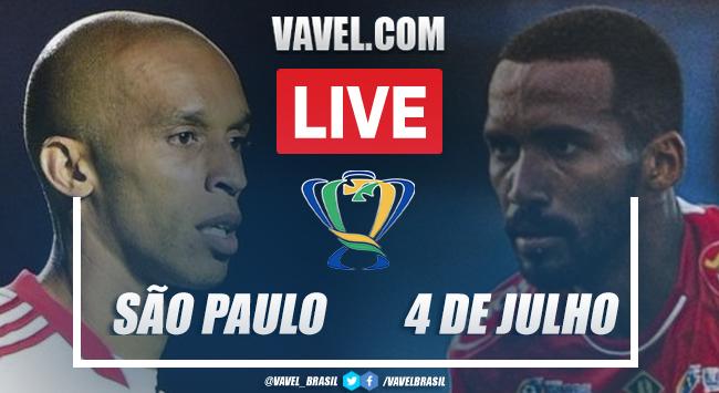 Gols e melhores momentos São Paulo x 4 de Julho pela Copa do Brasil (9-1)