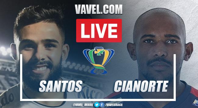 Gol e melhores momentos Santos x Cianorte pela Copa do Brasil 2021 (1-0)