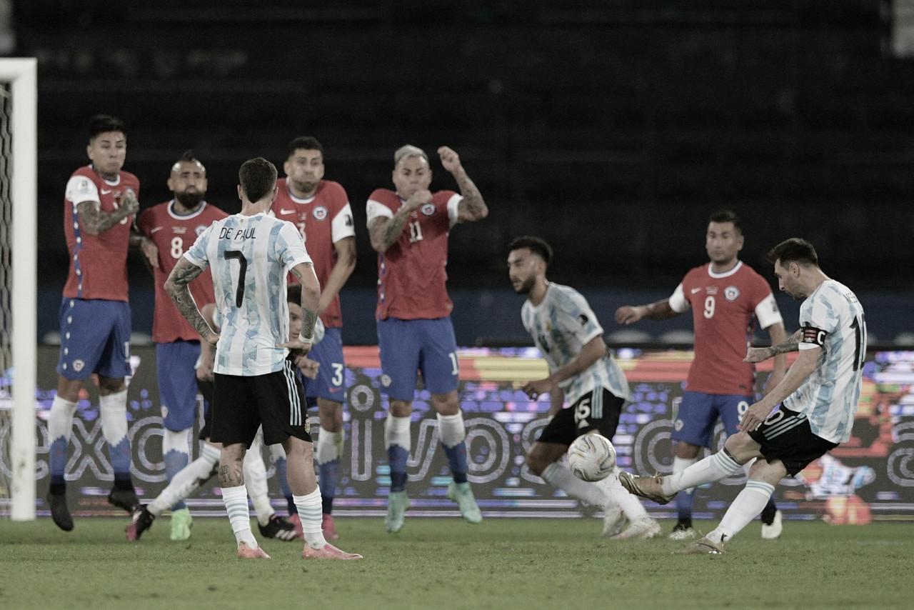 Estrela de Messi brilha, mas Argentina desperdiça chances e empata com Chile