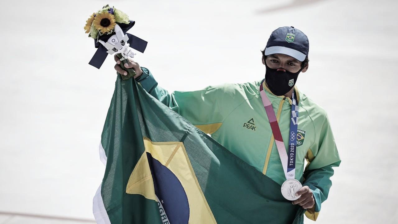 De Guarujá para Tóquio: Kelvin Hoefler é prata no skate e conquista primeira medalha brasileira