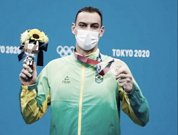 """Bronze nos 200m livre em Tóquio, Fernando Scheffer agradece apoio: """"Medalha é de todo mundo"""""""