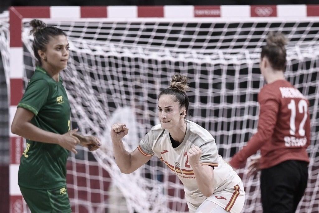No handebol feminino, Brasil perde para Espanha em jogo equilibrado nas Olimpíadas