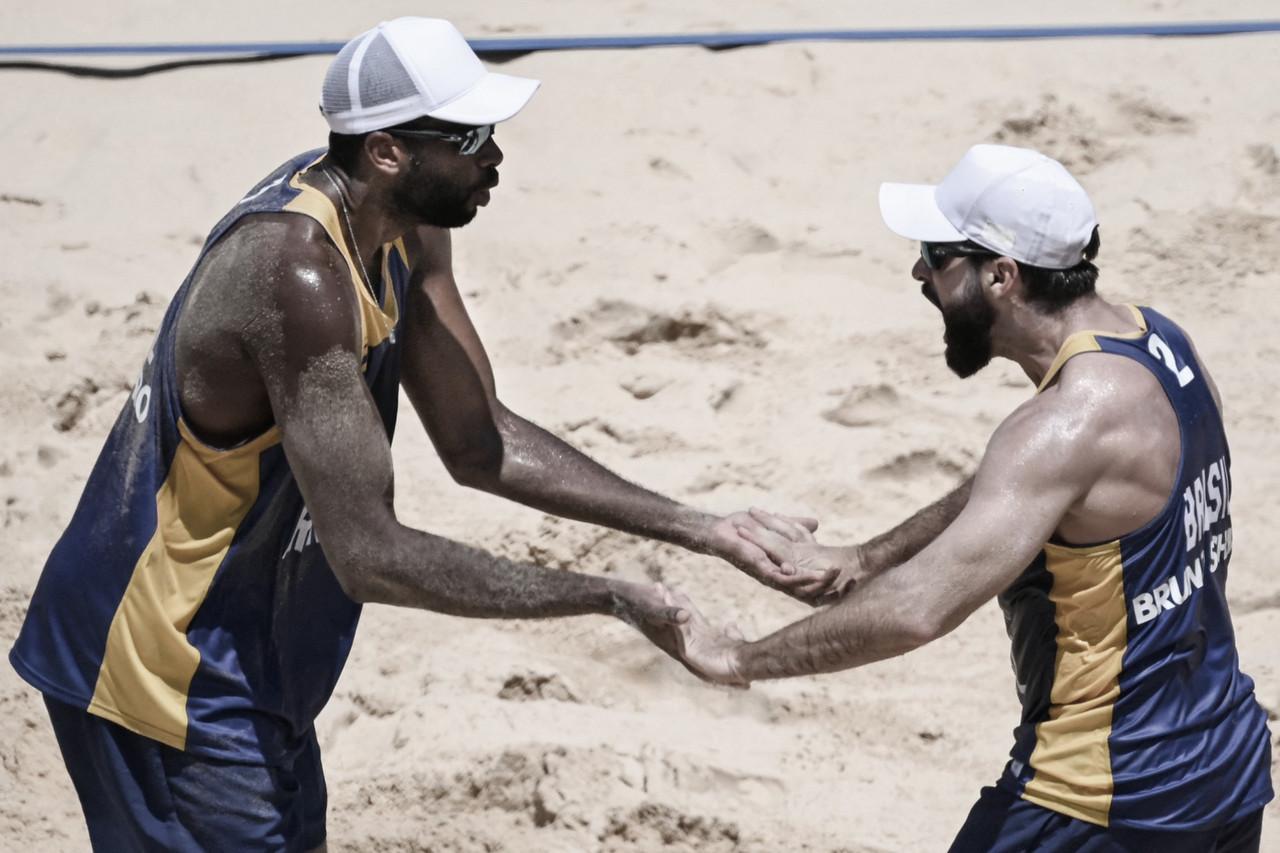 Melhores momentos Evandro/Bruno x Fijalek/Bryl no vôlei de praia nas Olimpíadas de Tóquio (2-1)
