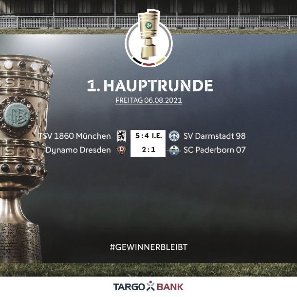 El Dynamo Dresden y el 1860 Múnich los grandes vencedores de la noche