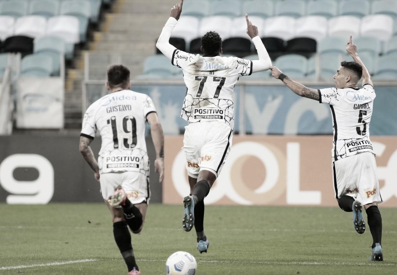 Embalado, Corinthians supera Grêmio na Arena pelo Brasileirão