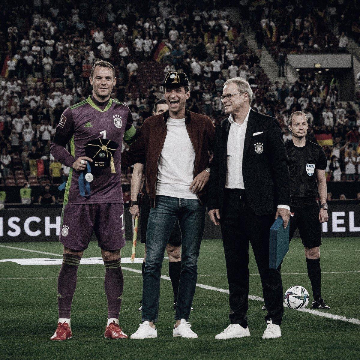 Neuer y Müller, cien partidos con la Die Mannschaft