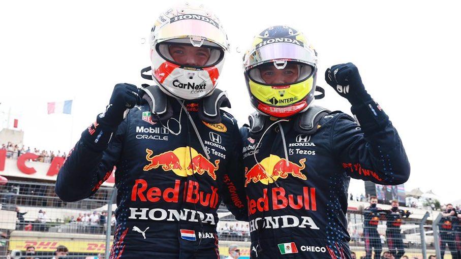 Sergio Pérez consigue su segundo podio del año y Verstappen gana en Francia