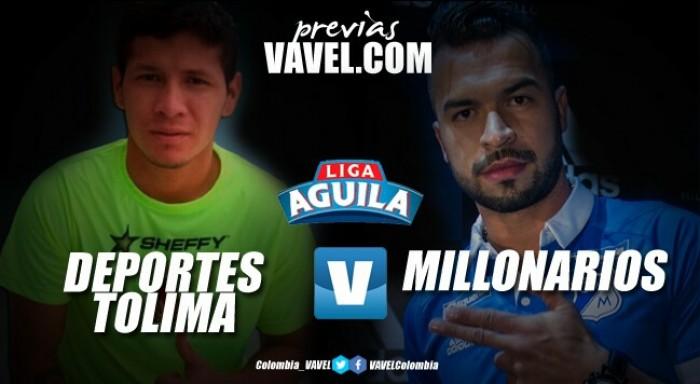 Deportes Tolima – Millonarios: un atractivo para animarse a tomar impulso