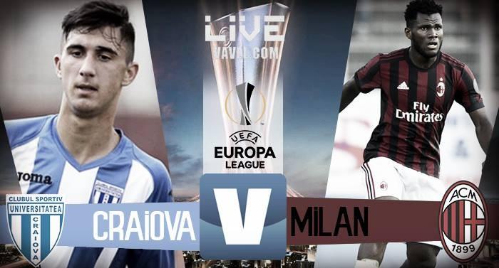 Risultato finale Craiova - Milan, Europa League LIVE (0-1): la decide Riccardo Rodriguez