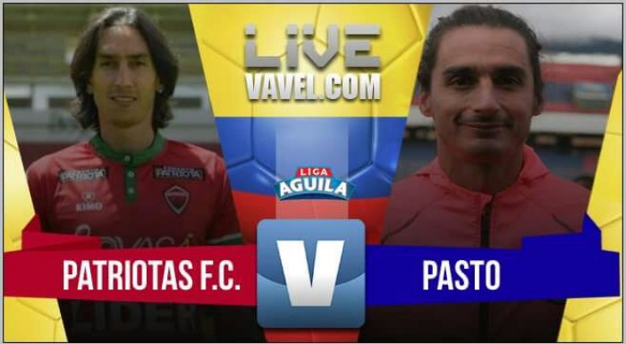 Resultado Patriotas 0-0 Deportivo Pasto por la Liga Águila 2017