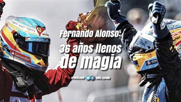 Fernando Alonso, 36 años llenos de magia