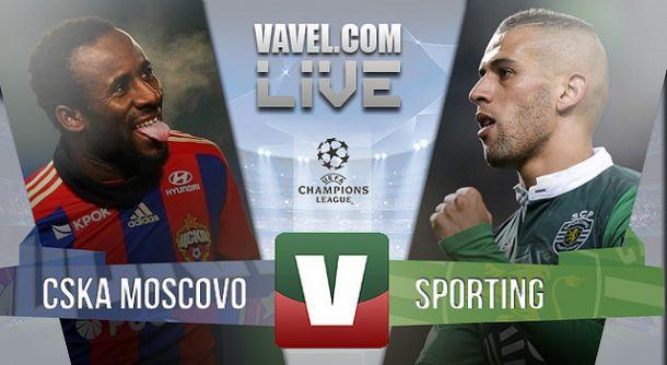 CSKA Moscovo x Sporting na Liga dos Campeões (3-1)