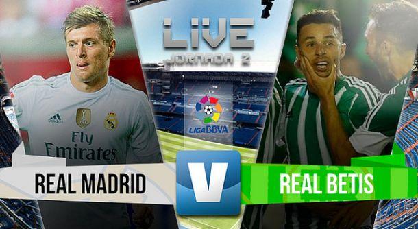 Real Madrid vs Betis en vivo y en directo online en la Liga BBVA 2015 (5-0)