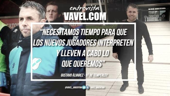 """Gustavo Álvarez: """"Estamos en una etapa de construcción de plantel"""""""