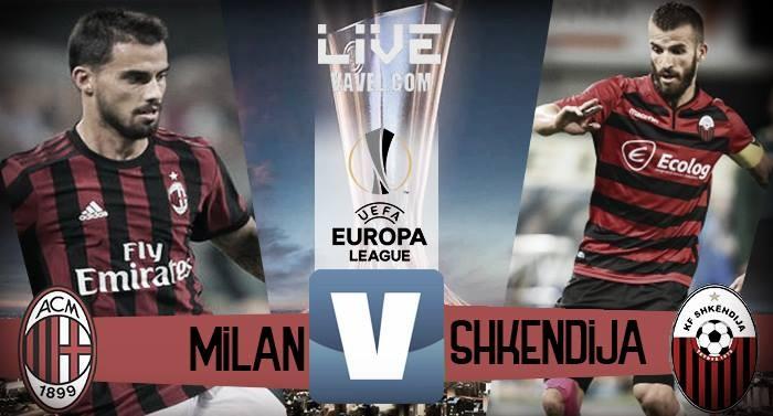 Milan-KF Shkëndija in diretta, Playoff Europa League 2017/18 LIVE (6-0): i rossoneri dilagano!