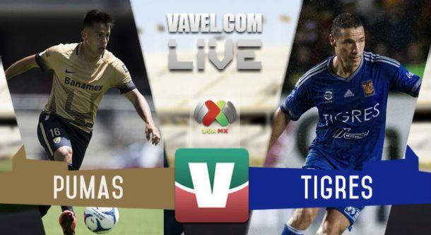 Resultado Pumas - Tigres en Liga MX 2015 (1-0)