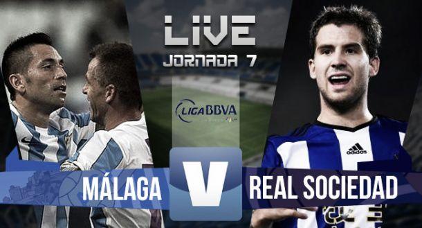 Resultado Málaga vs Real Sociedad en Liga BBVA 2015 (3-1)