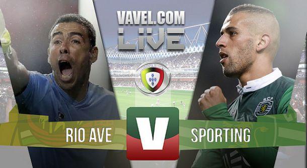 Resultado Rio Ave x Sporting na Liga NOS 2015 (1-2)